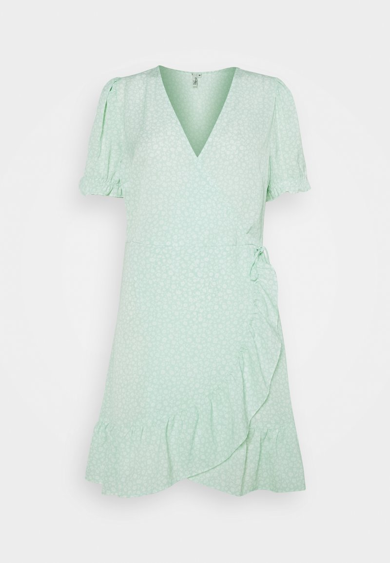 Nly by Nelly - PRINTED WRAP DRESS - Day dress - green