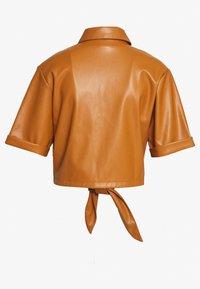 Gina Tricot - TEA TIE  - Blouse - cognac brown - 1