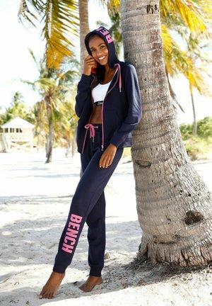 Zip-up sweatshirt - navy/pink