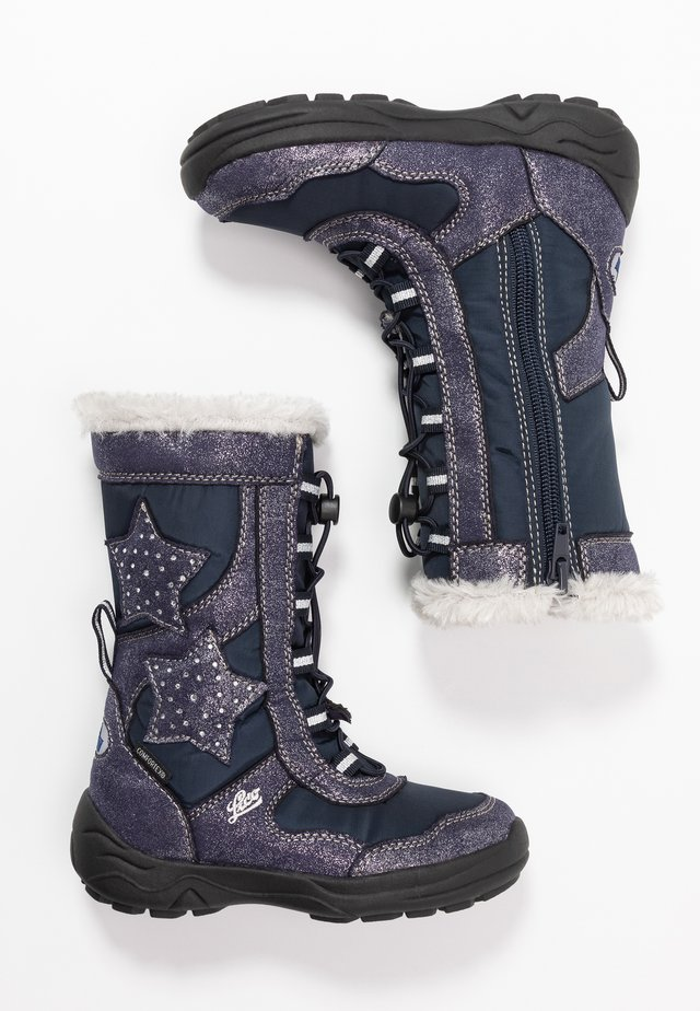 CATHRIN - Winter boots - marine/silber