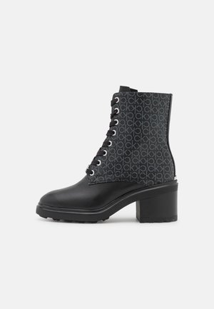 CLEAT LACE UP ANKLE MONO MIX - Lace-up ankle boots - black
