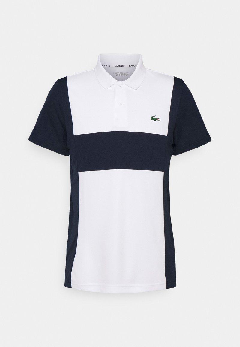 Lacoste Sport - TENNIS BLOCK - Pikeepaita - white/navy blue