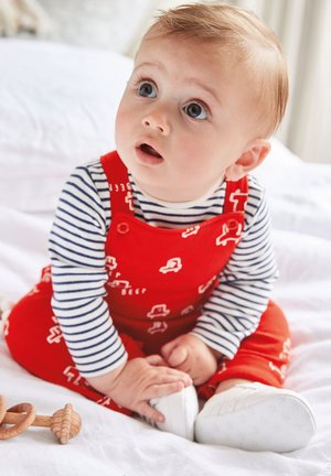 SET - Dungarees - red