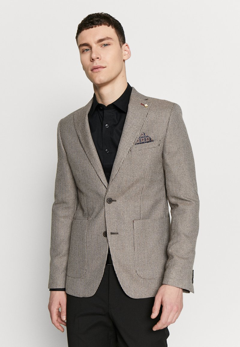 Burton Menswear London - CHESTNUT MINI CHECK - Kavaj - brown