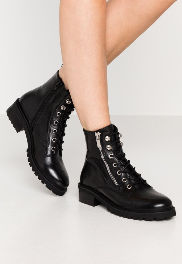 ULOF - Lace-up ankle boots - black
