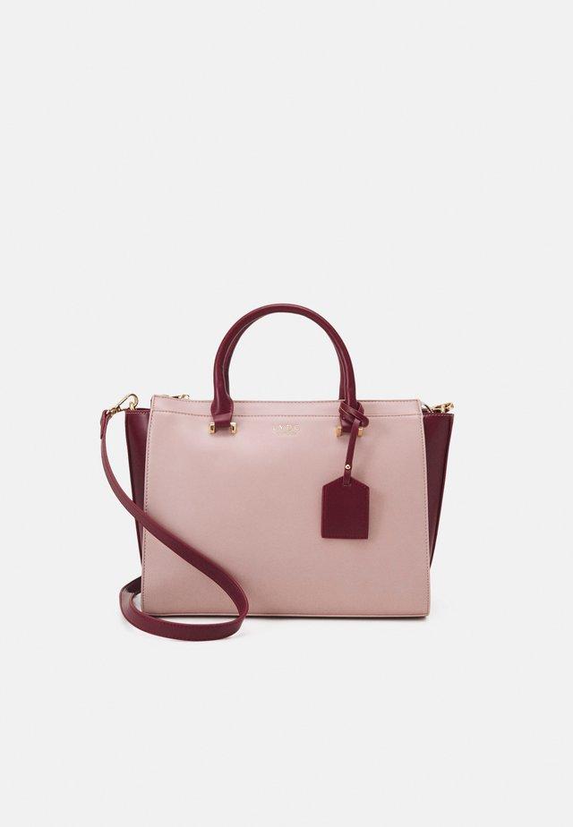 HANDBAG - Handväska - pink/bordo