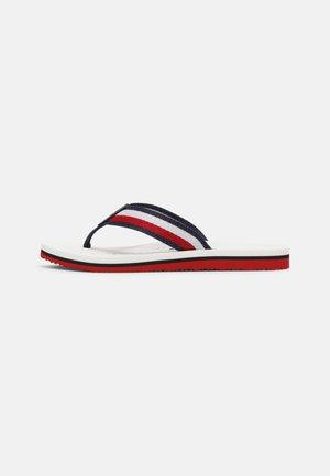 RIBBON FLAT BEACH  - T-bar sandals - white
