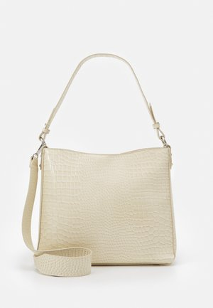 AMBLE CROCO - Handbag - sand beige