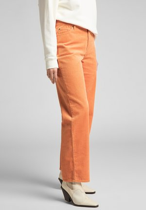 WIDE LEG LONG - Trousers - orange