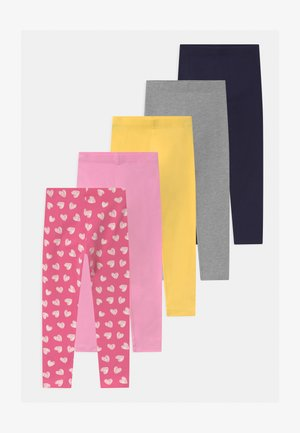 5 PACK - Leggings - Trousers - pink/dark blue/yellow