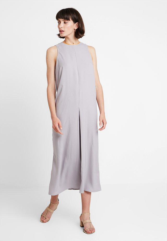Maxi dress - grey/orange