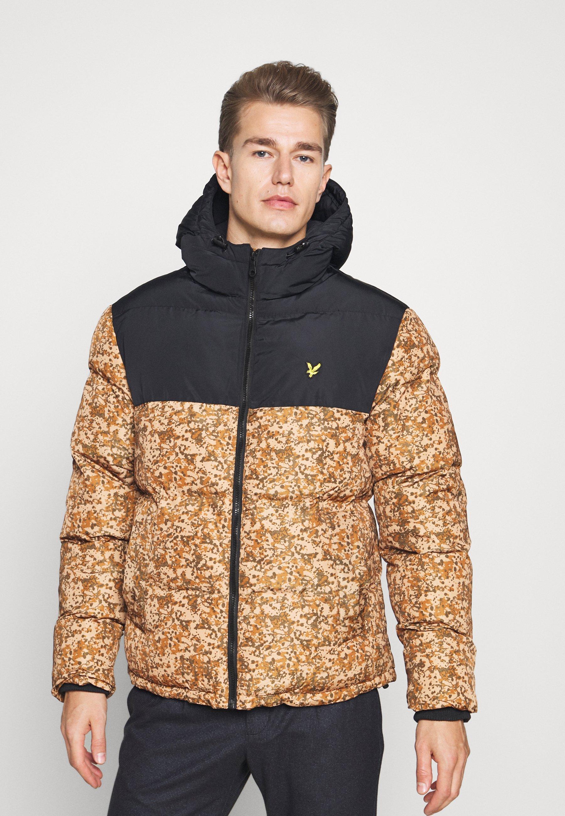 Men EARTH PRINT WADDED JACKET - Winter jacket