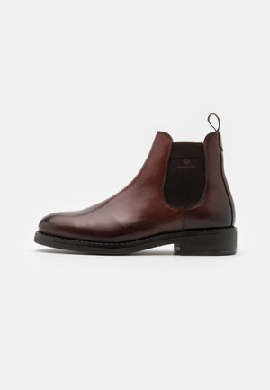 BROOKLY - Classic ankle boots - cognac