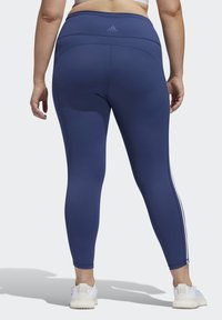 adidas Performance - BELIEVE THIS 3-STRIPES 7/8 LEGGINGS - Tights - blue - 2