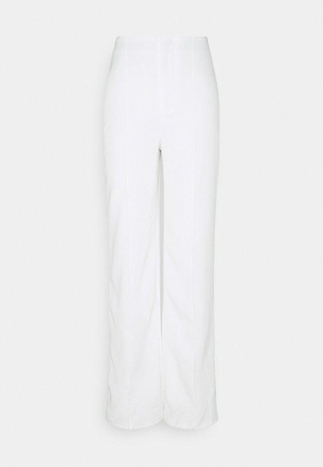 SEAM DETAIL STRAIGHT LEG TROUSERS - Bukser - white