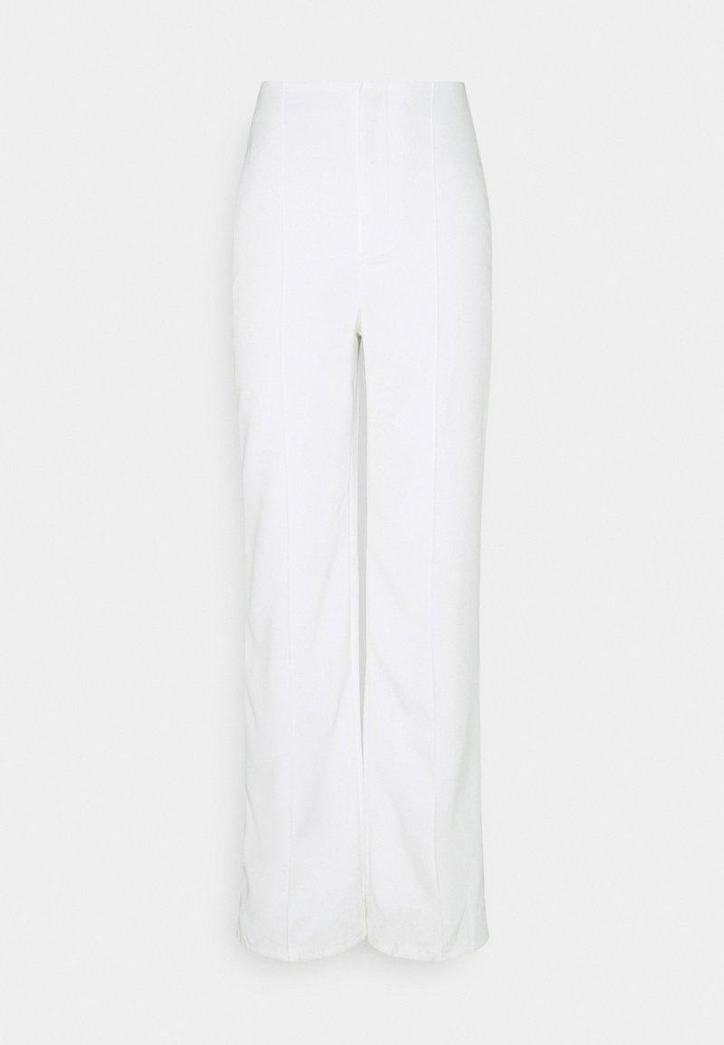 Missguided - SEAM DETAIL STRAIGHT LEG TROUSERS - Kalhoty - white