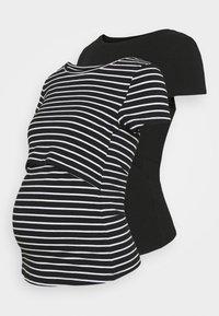 Anna Field MAMA - 2 pack NURSING FUNCTION t-shirt - T-shirts print - black - 0