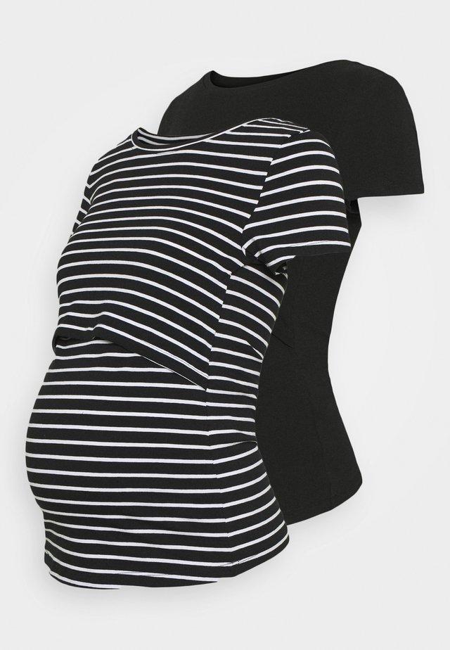 2 pack NURSING FUNCTION t-shirt - T-shirt z nadrukiem - black
