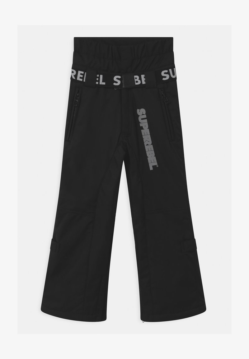SuperRebel - SUSTSAINABLE UNISEX - Snow pants - black