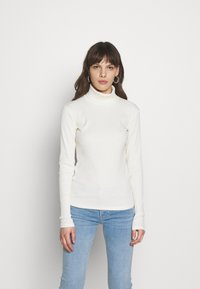 Gestuz - ROLLA ROLLNECK - Long sleeved top - off white - 1