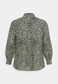 New Look Curves - LEO LEOPARD PRINTED - Button-down blouse - green - 7