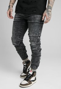 SIKSILK - ELASTICATED CUFF - Jeans slim fit - washed grey - 0