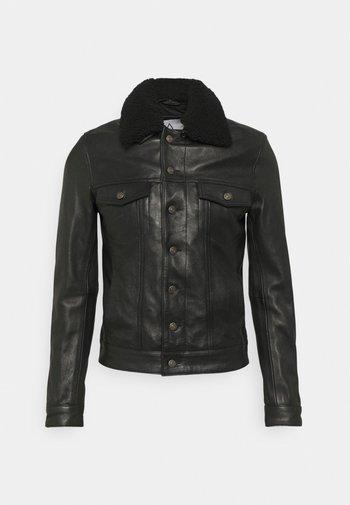 ELIAS - Leather jacket - black
