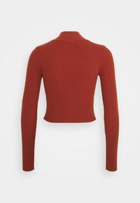 Glamorous Tall - CROPPED JUMPER WITH LONG SLEEVES AND HIGH ROUND NECKLINE - Jumper - rust - 1