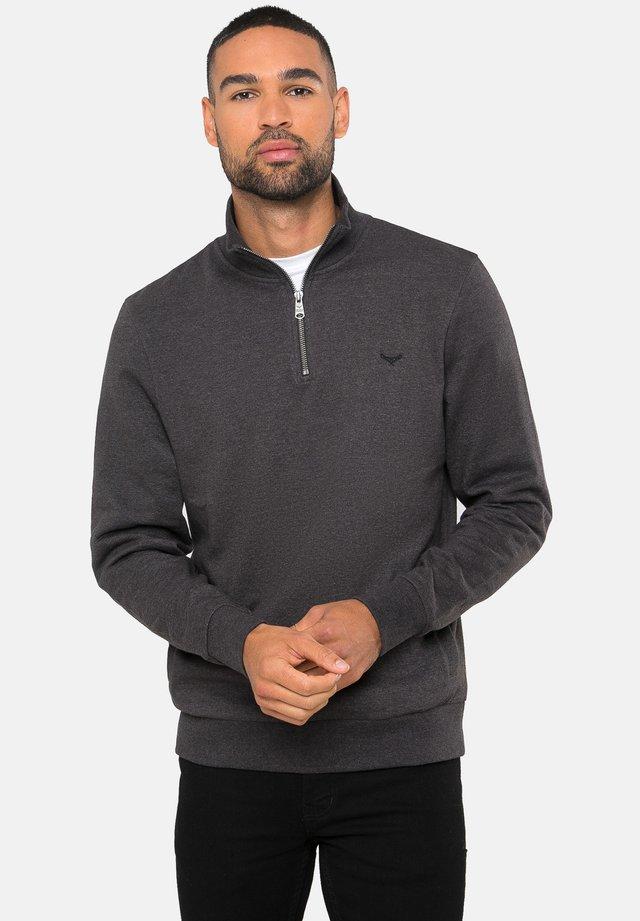 MIT REISSVERSCHLUSS 1/4 ZIP PATRICK - Sweater - dunkelgrau