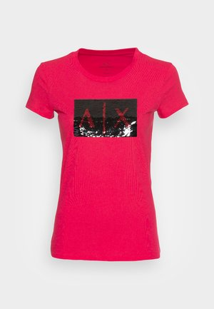 Print T-shirt - record/black