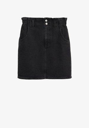 PAPERBAG - A-line skirt - black denim