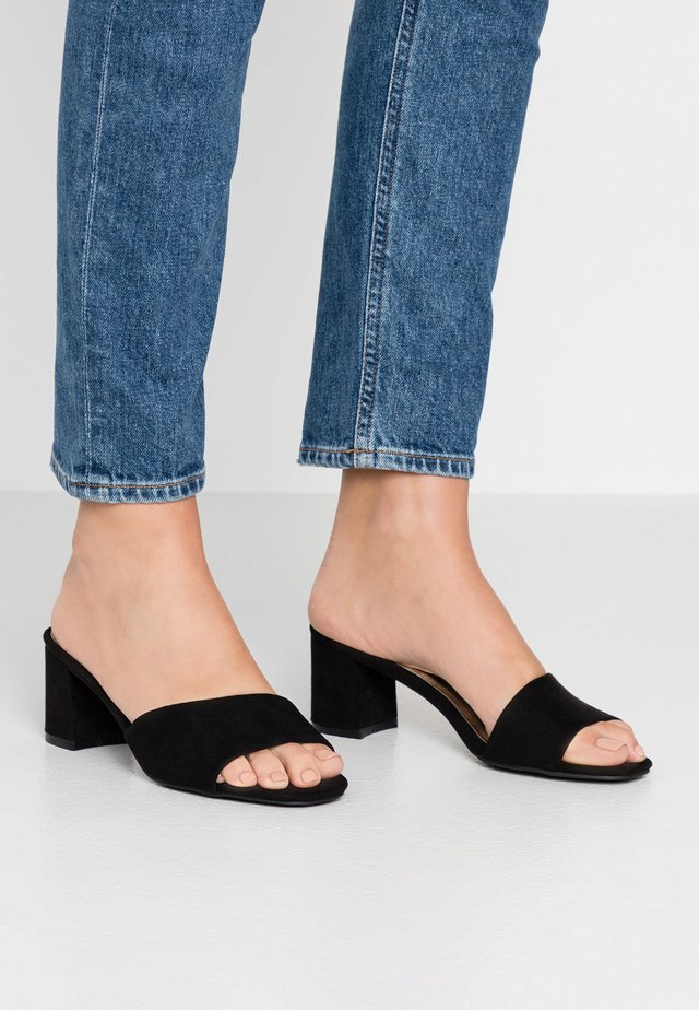 JULIE - Heeled mules - black