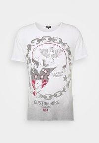 Key Largo - LUCKY ROUND - Print T-shirt - offwhite/anthrazit - 4