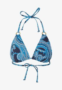 TRIANGLE BOHO - Bikini top - navy