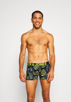 JACCOLORFULL SKULL TRUNK 3 PACK - Shorty - blazing yellow/surf the web/black