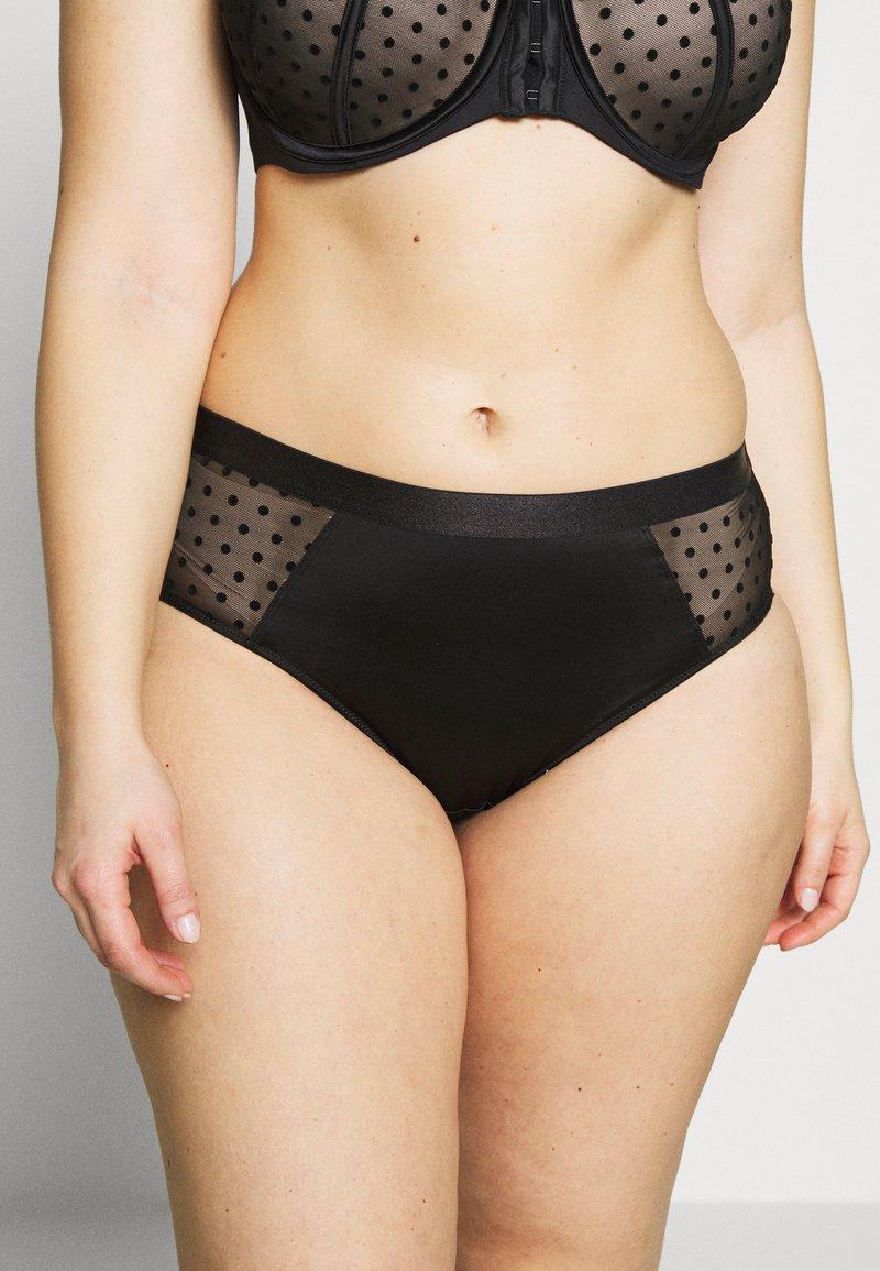 Ashley Graham Lingerie by Addition Elle - FASHION HIGH CUT PANTY - Underbukse - black