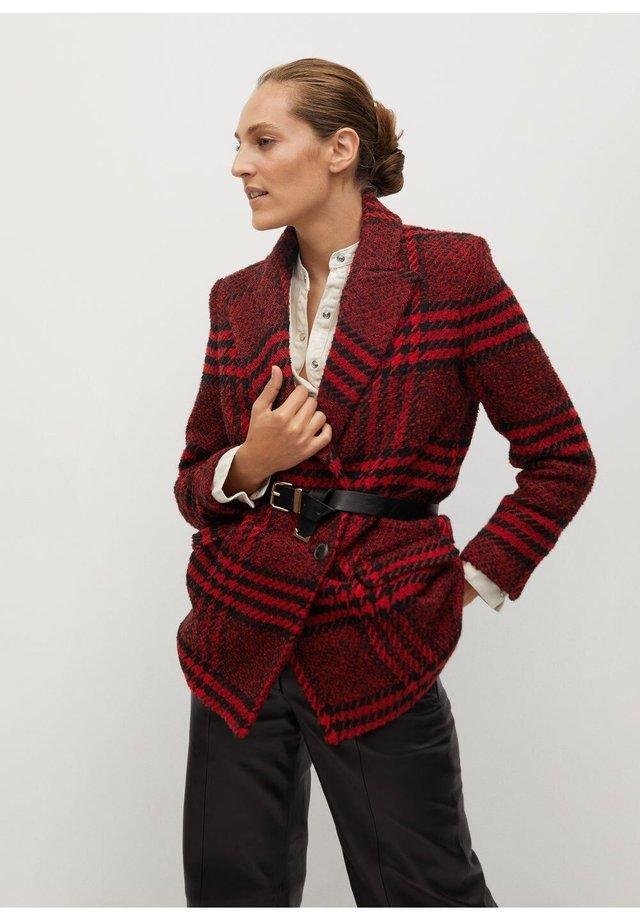 ANNA - Short coat - rojo