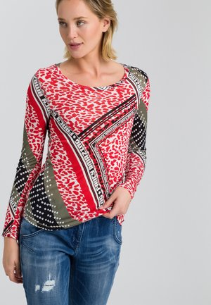 IM MUSTERMIX-PRINT - Long sleeved top - red