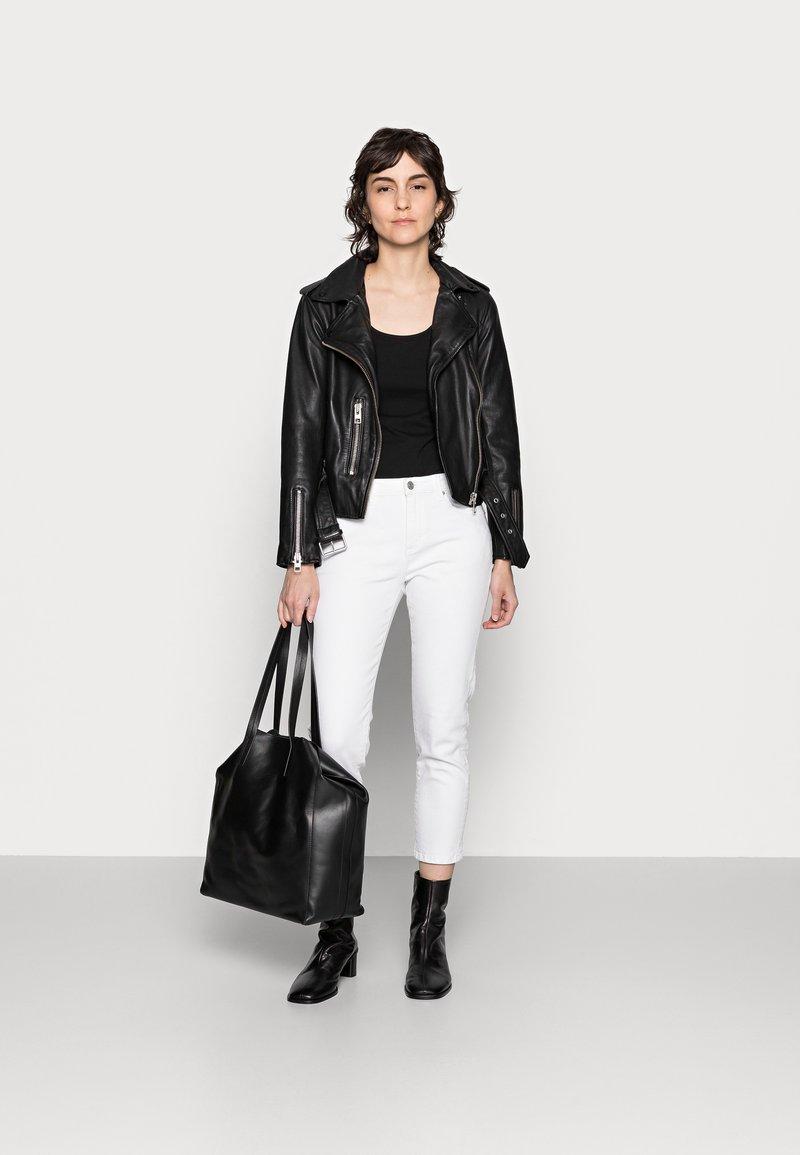 Anna Field - 3 PACK - Topper - black/white /khaki