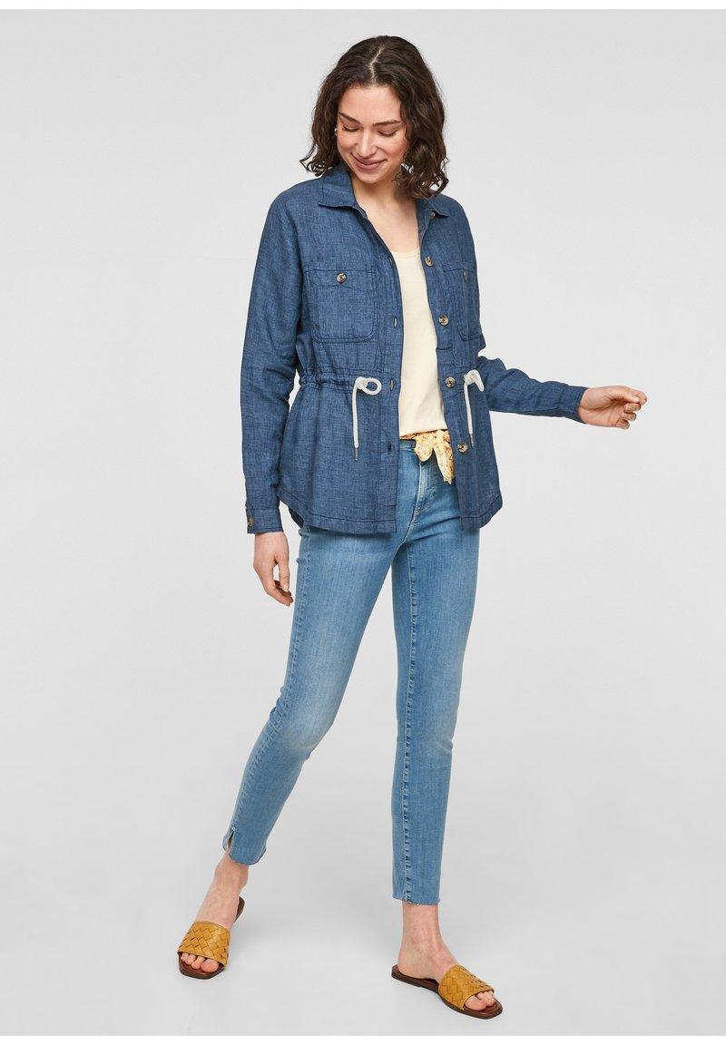s.Oliver - Denim jacket - mottled dark blue
