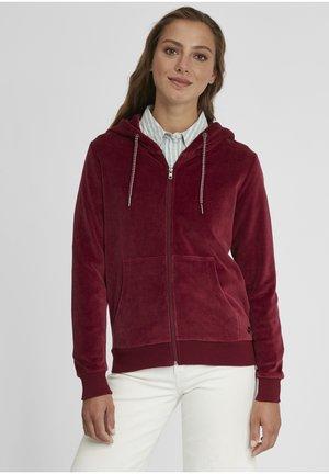 Zip-up hoodie - wine red