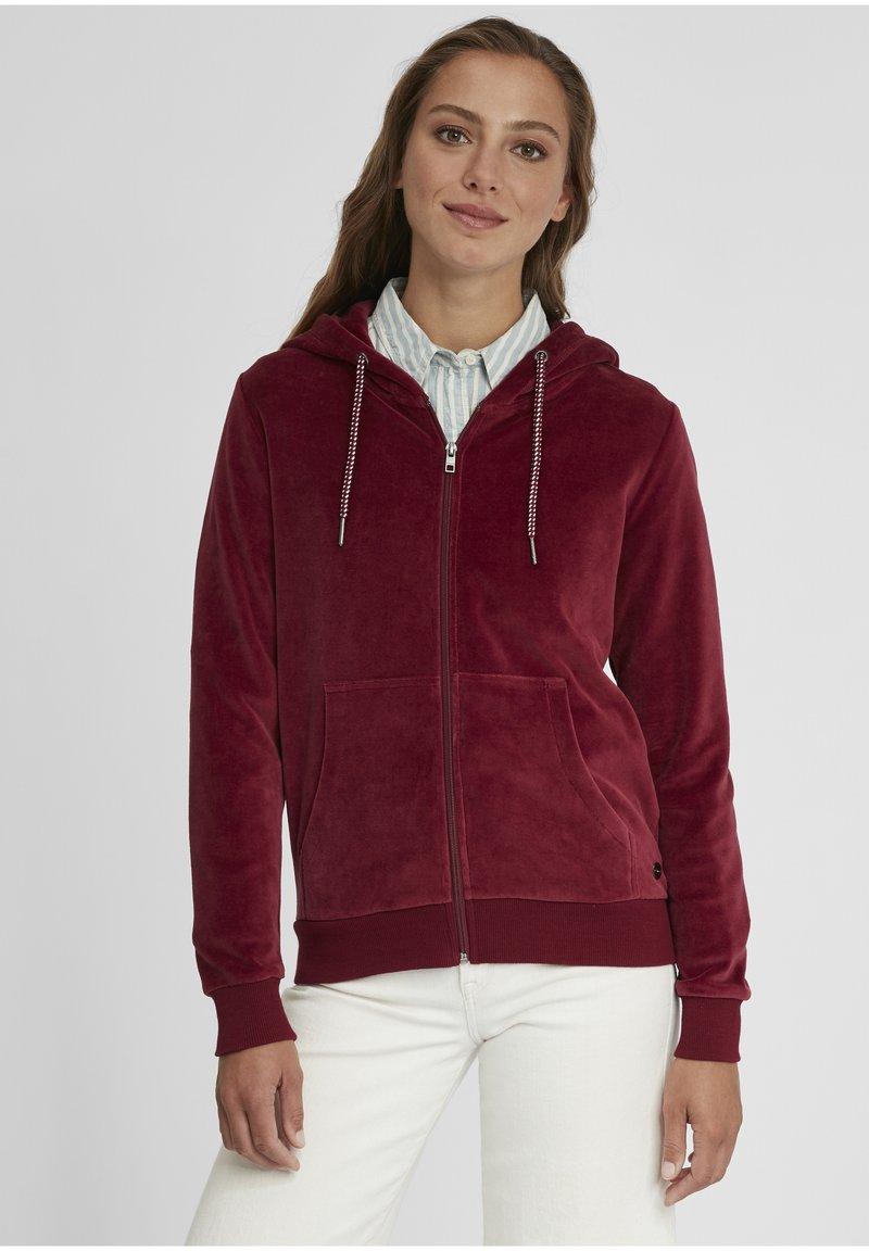 Oxmo - Zip-up hoodie - wine red