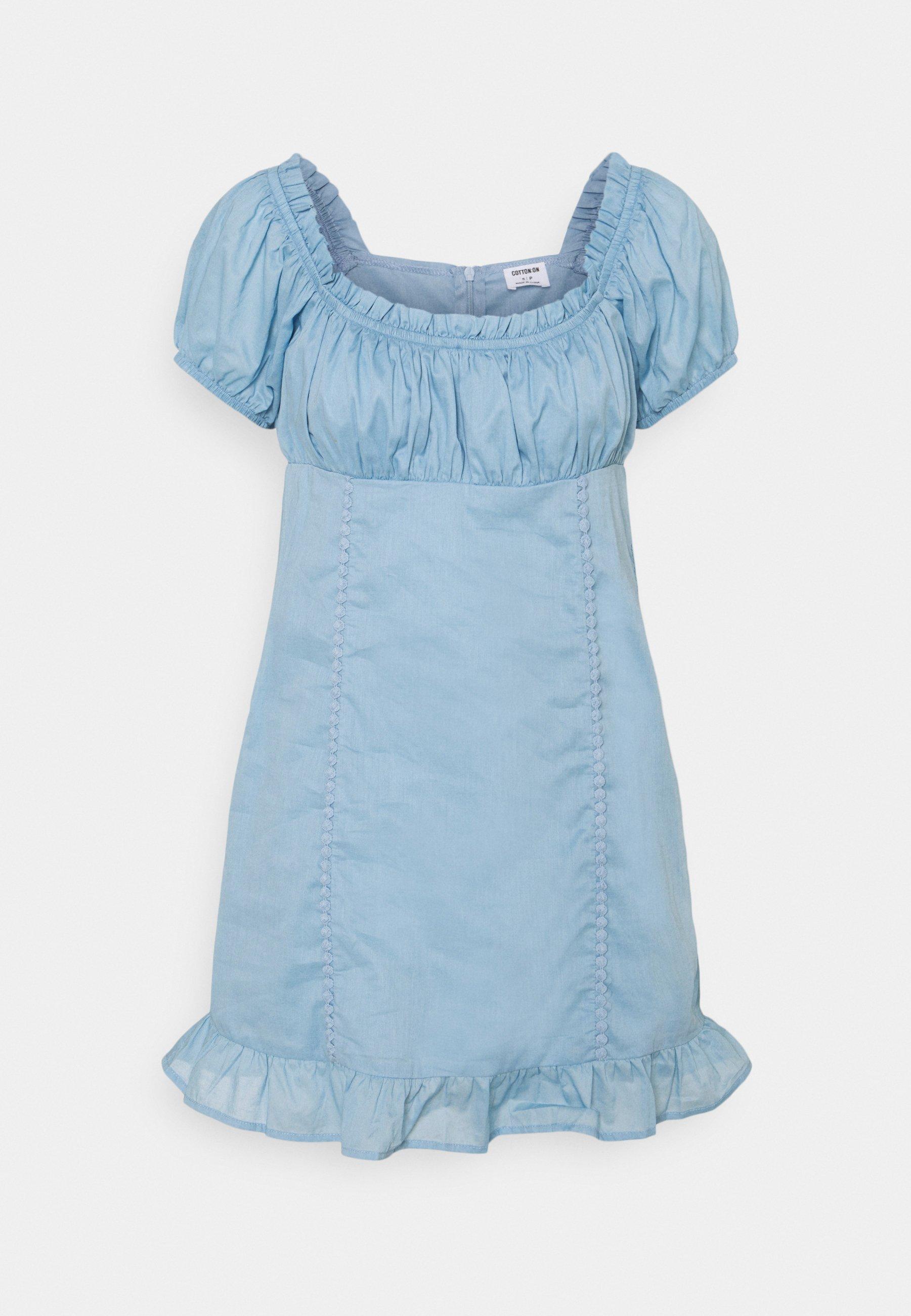 Women SHORT SLEEVE CORSET MINI DRESS - Day dress