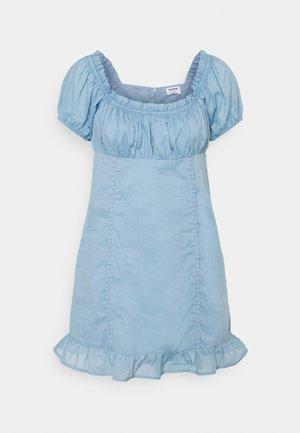 SHORT SLEEVE CORSET MINI DRESS - Vapaa-ajan mekko - wave washed blue