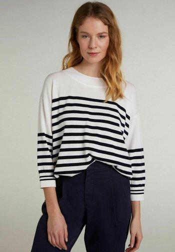 Sweatshirt - white blue