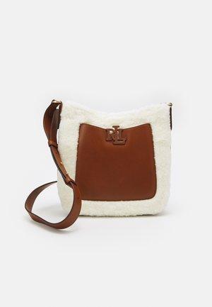 CAMERYN CROSSBODY MEDIUM - Across body bag - white/lauren tan