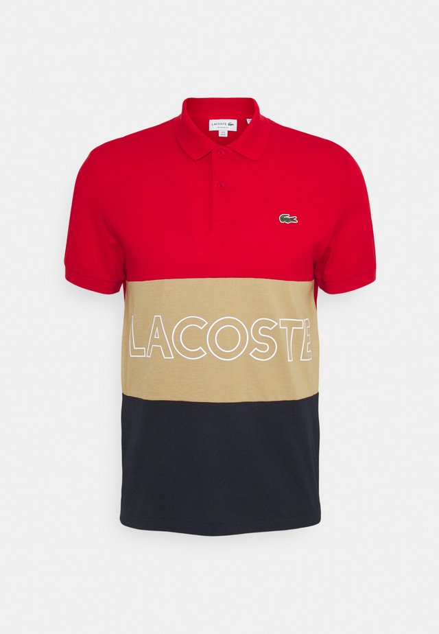 Polo - rouge/viennois marine