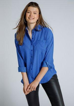 Button-down blouse - kobaltblau