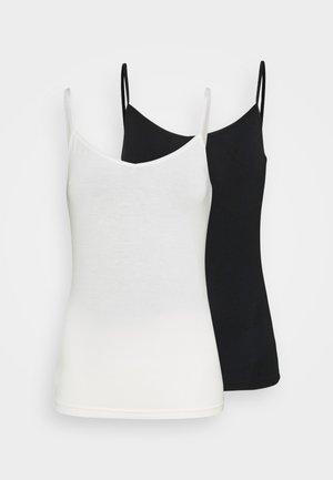 2 PACK - Maglietta intima - black/creme