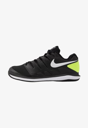 AIR ZOOM VAPOR X - All court tennisskor - black/white/volt